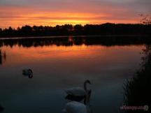 východ  slunce nad Špinkou