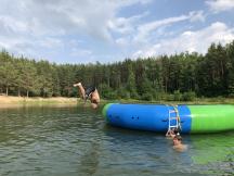 Nová 6m vodní trampolína