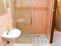 Zděné chatky koupelna